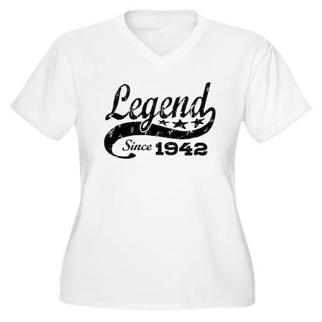 Legend Since 1942 Women's Plus Size V-Neck T-Shirt