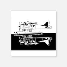 Indiscrete Seaplane Negative Combo Mirror Sticker