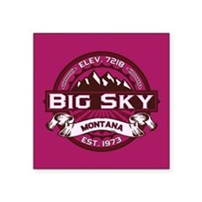 "Big Sky Raspberry Square Sticker 3"" x 3"""