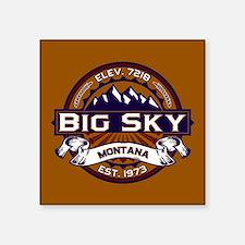 "Big Sky Vibrant Square Sticker 3"" x 3"""