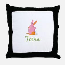 Easter Bunny Terra Throw Pillow