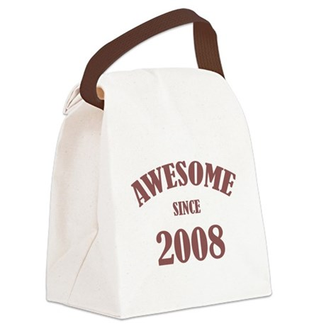 Awesome Since 2008 Canvas Lunch Bag