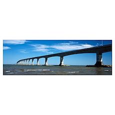 Confederation Bridge, Northumberland Strait, Princ Poster