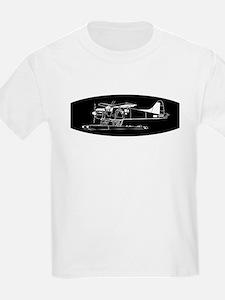Indiscrete Propeller Seaplane Negative Oval T-Shir