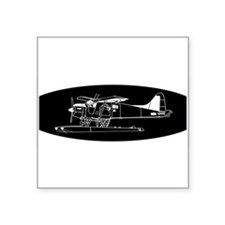 Indiscrete Propeller Seaplane Negative Oval Sticke