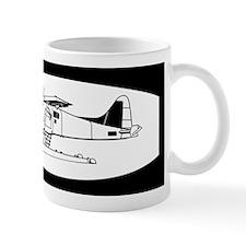 Indiscrete Seaplane Black White Oval Mug