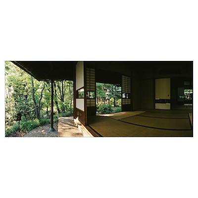 Japanese house, Ebisu, Shibuya, Tokyo Prefecture, Poster