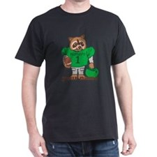 Personalized Football Raccoon T-Shirt