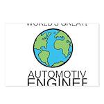 Worlds Greatest Automotive Engineer Postcards (Pac