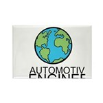 Worlds Greatest Automotive Engineer Rectangle Magn