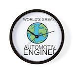 Worlds Greatest Automotive Engineer Wall Clock