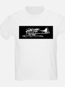 Indiscrete Propeller Seaplane Negative Plain T-Shi