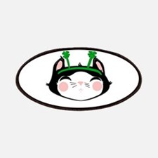Kitty Face 4 Leaf Clovers (txt) Patches