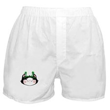 Kitty Face 4 Leaf Clovers (txt) Boxer Shorts