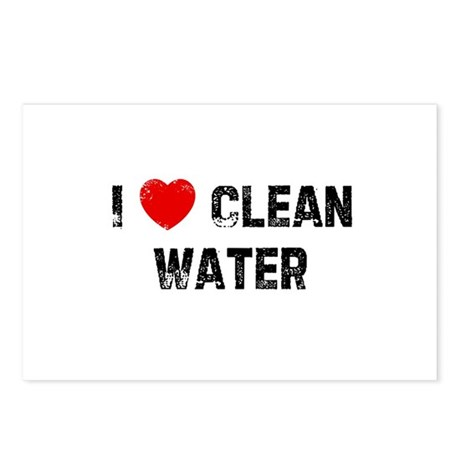 I * Clean Water Postcards (Package of 8)