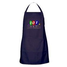101st Birthday Apron (dark)