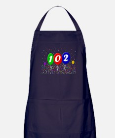 102nd Birthday Apron (dark)