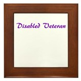 Disabled veteran Framed Tiles