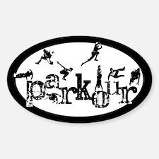 Parkour Sticker (Oval)