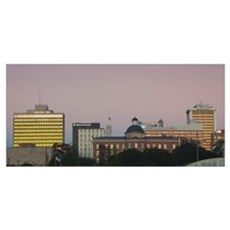 Buildings in a city, Jackson, Hinds County, Missis Framed Print