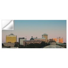 Buildings in a city, Jackson, Hinds County, Missis Wall Decal