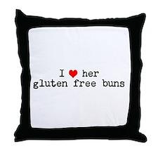 I love her gluten free buns Throw Pillow