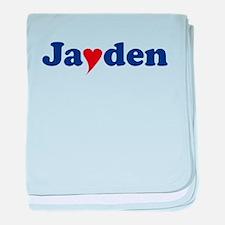 Jayden with Heart baby blanket