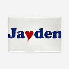 Jayden with Heart Rectangle Magnet