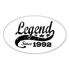Legend Since 1992 Decal