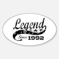 Legend Since 1992 Decal