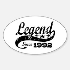 Legend Since 1992 Sticker (Oval)