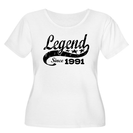 Legend Since 1991 Women's Plus Size Scoop Neck T-S