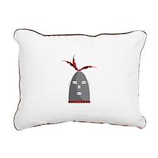 Eleggua Head Rectangular Canvas Pillow