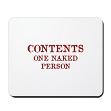 Contents One Naked Person Mousepad