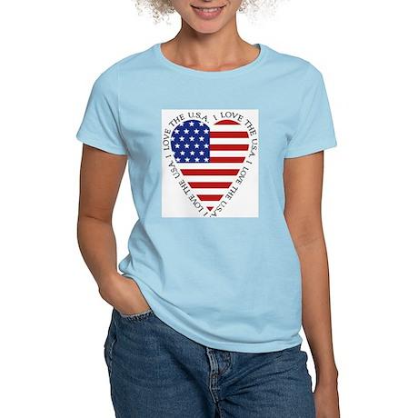 Heart flag Women's T-Shirt / 3 pastel colors