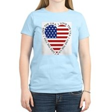 Heart flag Women's T-Shirt / 3 pastel colors