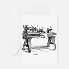 lathe Greeting Cards