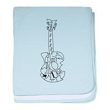 Guitar, Acoustic Guitar, Texas, Music baby blanket