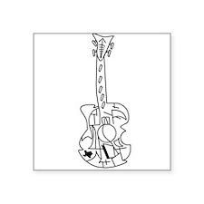 Guitar, Acoustic Guitar, Texas, Music Sticker