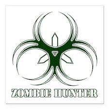 "Zombie Hunter Square Car Magnet 3"" x 3"""