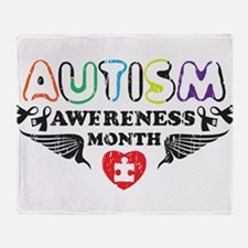 Autism awereness month Throw Blanket