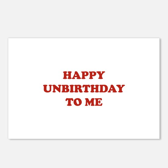 Happy Unbirthday To Me Postcards (Package of 8)