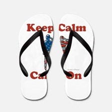 Keep Calm and Carry On Flip Flops
