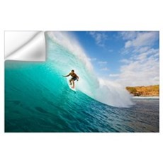 Hawaii, Maui, Kapalua, Surfer Tides Perfect Wave A Wall Decal