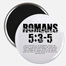 "Romans 5:3-5 2.25"" Magnet (10 pack)"