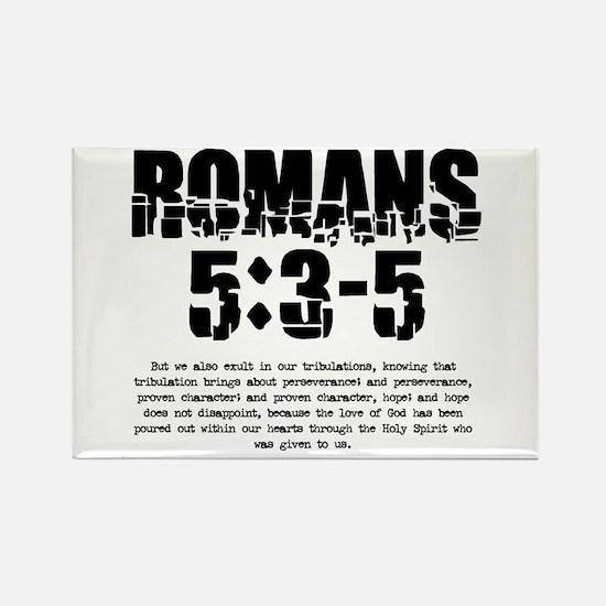 Romans 5:3-5 Rectangle Magnet