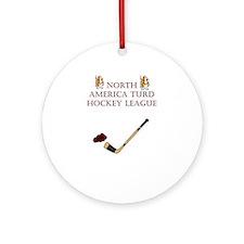 North American Turd Hockey We Ornament (Round)