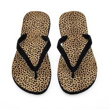 Cheetah Print Flip Flops