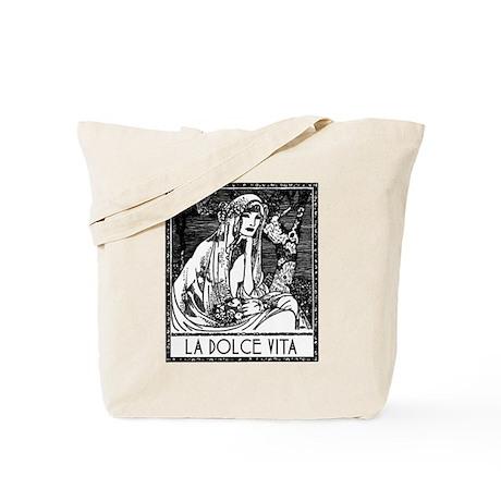 Vintage Art La Dolce Vita Tote Bag