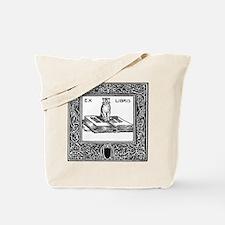 Ex Libris Cat and Book Tote Bag